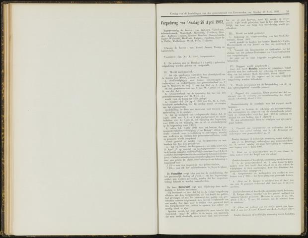 Raadsverslagen van de gemeente Leeuwarden, 1865-2007 (Notulen) 1903-04-28