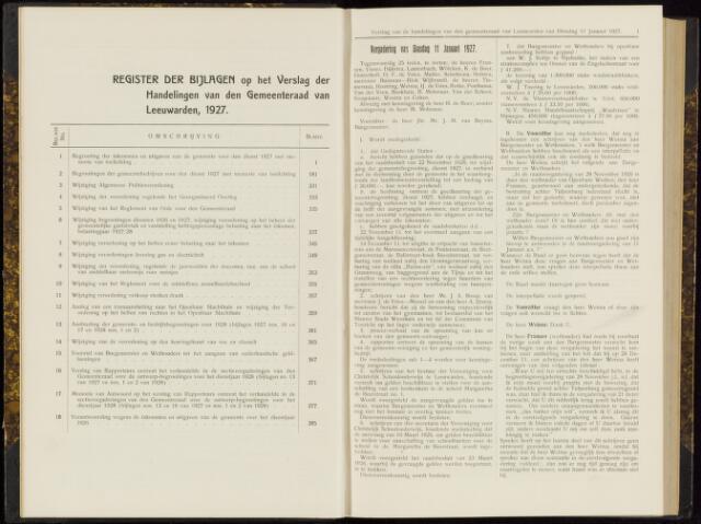 Raadsverslagen van de gemeente Leeuwarden, 1865-2007 (Notulen) 1927