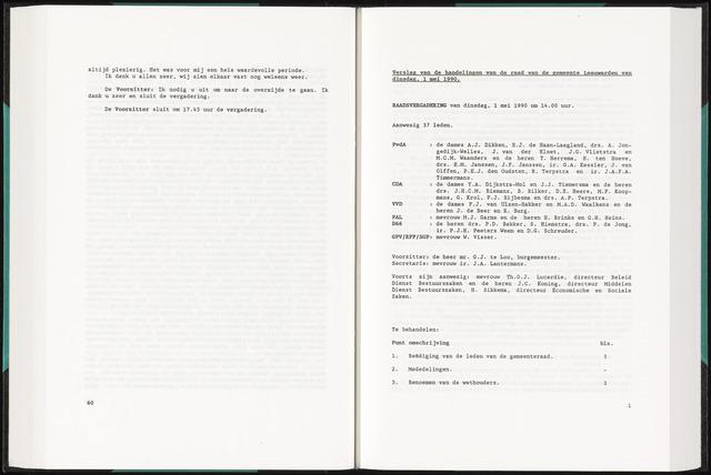 Raadsverslagen van de gemeente Leeuwarden, 1865-2007 (Notulen) 1990-05-01
