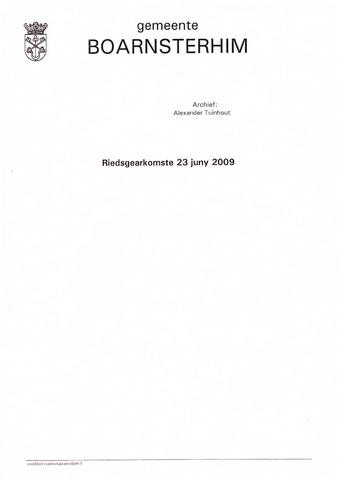 Boarnsterhim vergaderstukken gemeenteraad  2009-06-23
