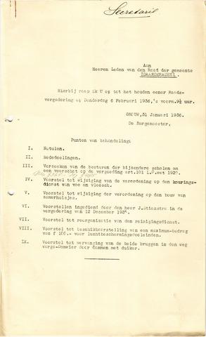raadsverslagen Idaarderadeel 1935-1983 1936