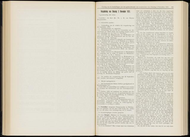 Raadsverslagen van de gemeente Leeuwarden, 1865-2007 (Notulen) 1931-11-03