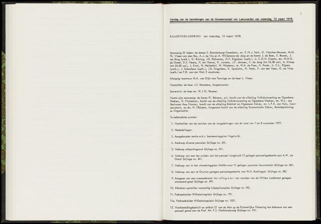 Raadsverslagen van de gemeente Leeuwarden, 1865-2007 (Notulen) 1978-03-13