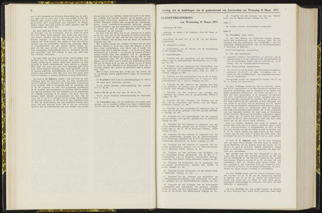 Raadsverslagen van de gemeente Leeuwarden, 1865-2007 (Notulen) 1953-03-18