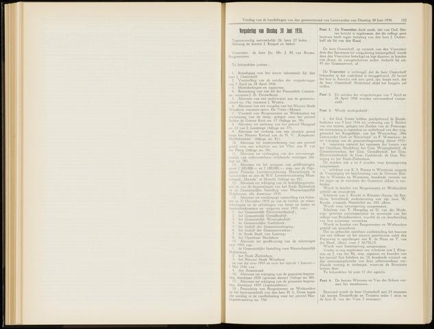 Raadsverslagen van de gemeente Leeuwarden, 1865-2007 (Notulen) 1936-06-30