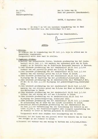 raadsverslagen Idaarderadeel 1935-1983 1954-09-13