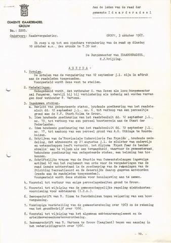 raadsverslagen Idaarderadeel 1935-1983 1967-10-10