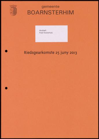 Boarnsterhim vergaderstukken gemeenteraad  2013-06-25