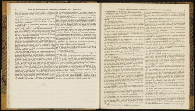 Raadsverslagen van de gemeente Leeuwarden, 1865-2007 (Notulen) 1875-01-28