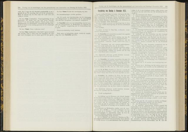 Raadsverslagen van de gemeente Leeuwarden, 1865-2007 (Notulen) 1923-11-06