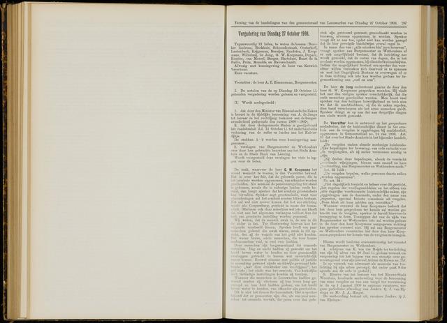 Raadsverslagen van de gemeente Leeuwarden, 1865-2007 (Notulen) 1908-10-27