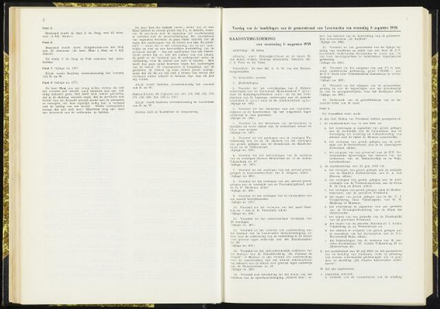 Raadsverslagen van de gemeente Leeuwarden, 1865-2007 (Notulen) 1958-08-06