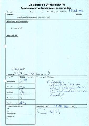 Boarnsterhim vergaderstukken gemeenteraad  1994-04-05