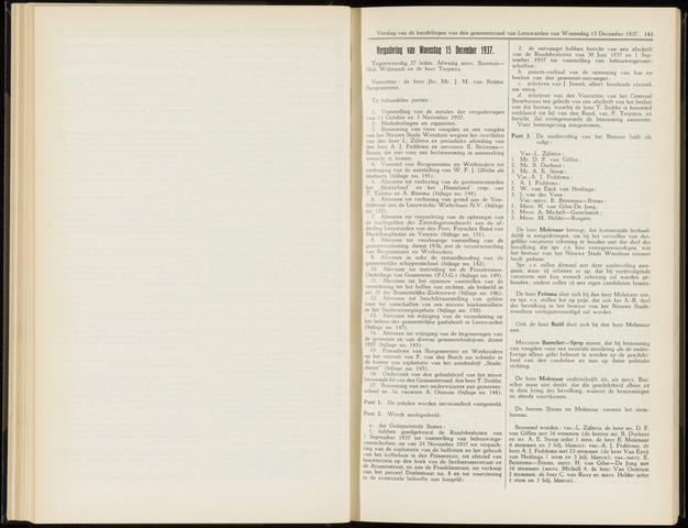 Raadsverslagen van de gemeente Leeuwarden, 1865-2007 (Notulen) 1937-12-15