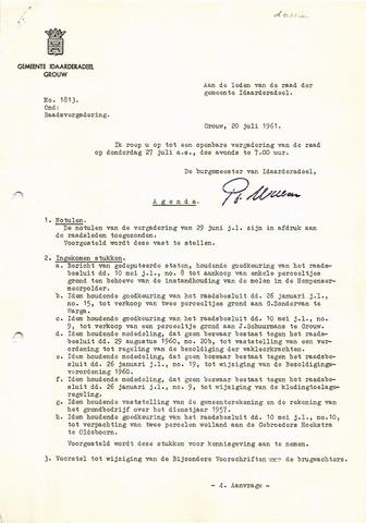 raadsverslagen Idaarderadeel 1935-1983 1961-07-27