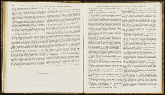 Raadsverslagen van de gemeente Leeuwarden, 1865-2007 (Notulen) 1881-12-08