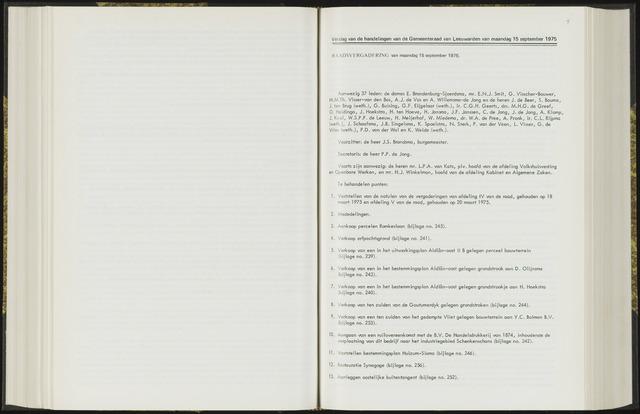 Raadsverslagen van de gemeente Leeuwarden, 1865-2007 (Notulen) 1975-09-15