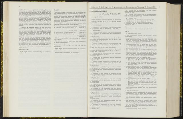 Raadsverslagen van de gemeente Leeuwarden, 1865-2007 (Notulen) 1954-10-27