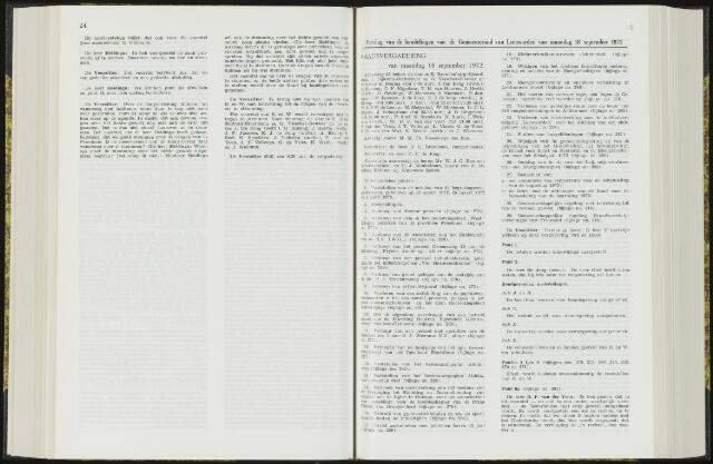 Raadsverslagen van de gemeente Leeuwarden, 1865-2007 (Notulen) 1972-09-18