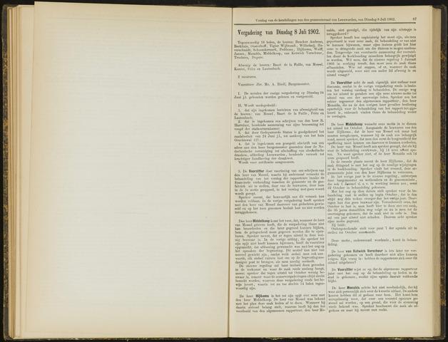 Raadsverslagen van de gemeente Leeuwarden, 1865-2007 (Notulen) 1902-07-08