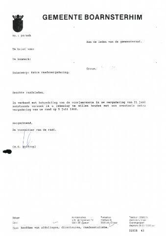 Boarnsterhim vergaderstukken gemeenteraad  1988-06-21
