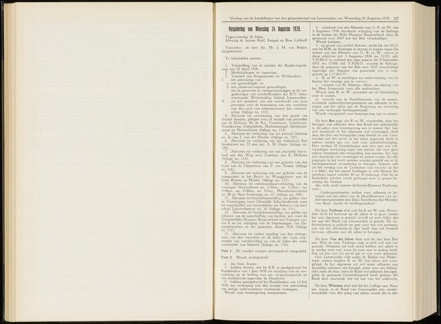 Raadsverslagen van de gemeente Leeuwarden, 1865-2007 (Notulen) 1938-08-24
