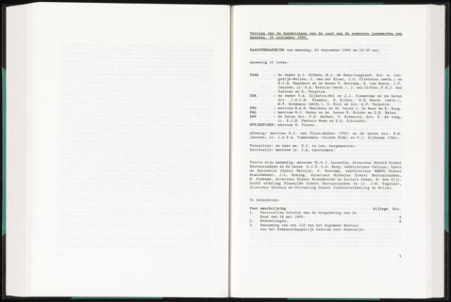 Raadsverslagen van de gemeente Leeuwarden, 1865-2007 (Notulen) 1990-09-24