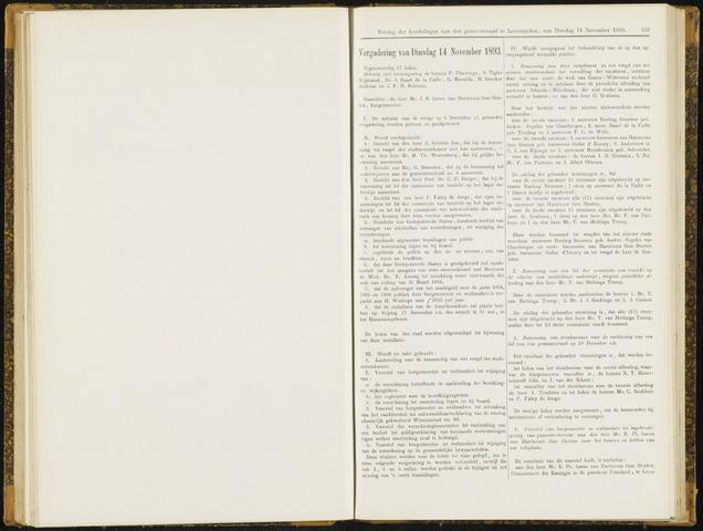Raadsverslagen van de gemeente Leeuwarden, 1865-2007 (Notulen) 1893-11-14