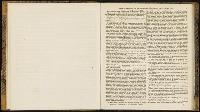 Raadsverslagen van de gemeente Leeuwarden, 1865-2007 (Notulen) 1875-02-25