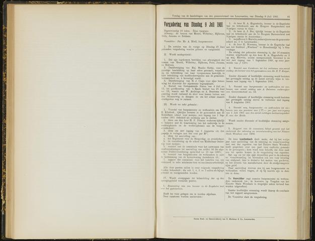 Raadsverslagen van de gemeente Leeuwarden, 1865-2007 (Notulen) 1901-07-09