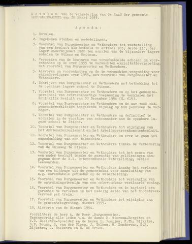 Notulen van de gemeenteraad van Leeuwarderadeel 1955-03-28