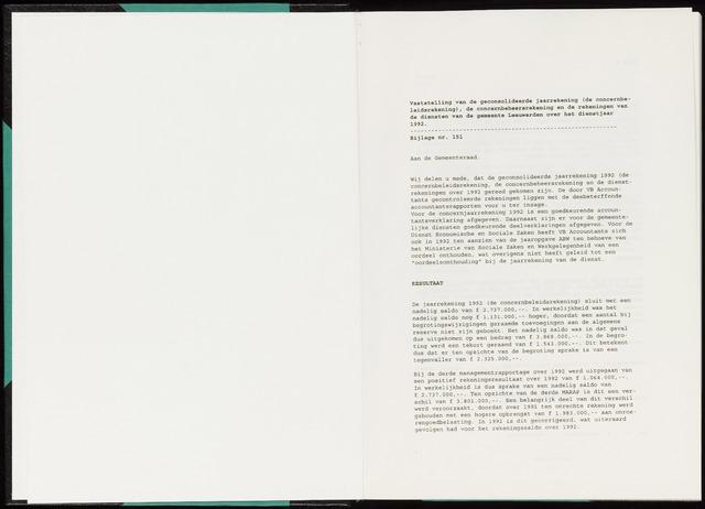 Raadsverslagen van de gemeente Leeuwarden, 1865-2007 (Bijlagen) 1994-01-01