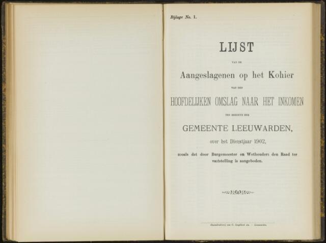 Raadsverslagen van de gemeente Leeuwarden, 1865-2007 (Bijlagen) 1902-01-01