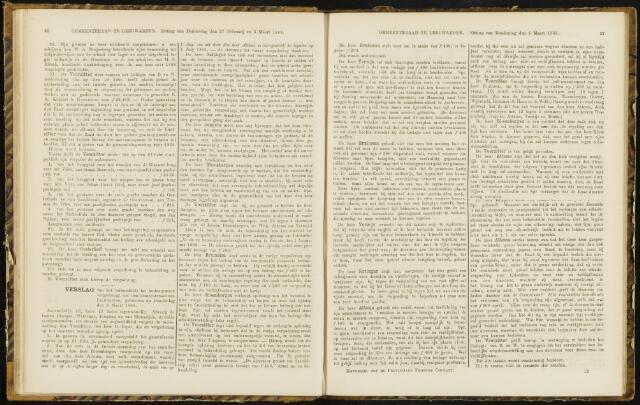 Raadsverslagen van de gemeente Leeuwarden, 1865-2007 (Notulen) 1868-03-05