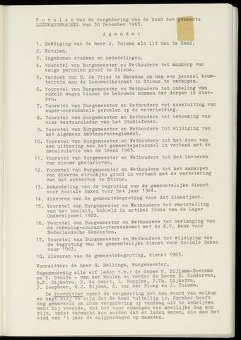 Notulen van de gemeenteraad van Leeuwarderadeel 1963-12-30