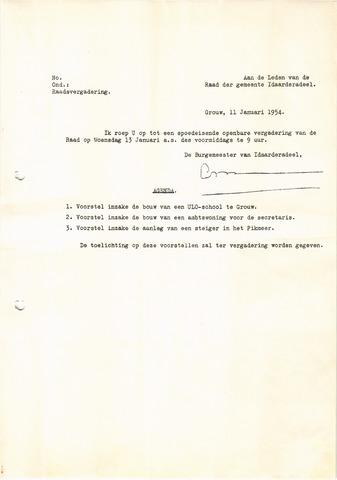 raadsverslagen Idaarderadeel 1935-1983 1954
