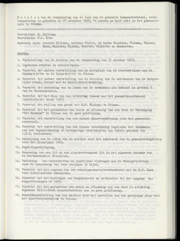 Notulen van de gemeenteraad van Leeuwarderadeel 1968-11-28