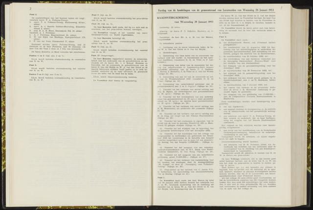 Raadsverslagen van de gemeente Leeuwarden, 1865-2007 (Notulen) 1953-01-28