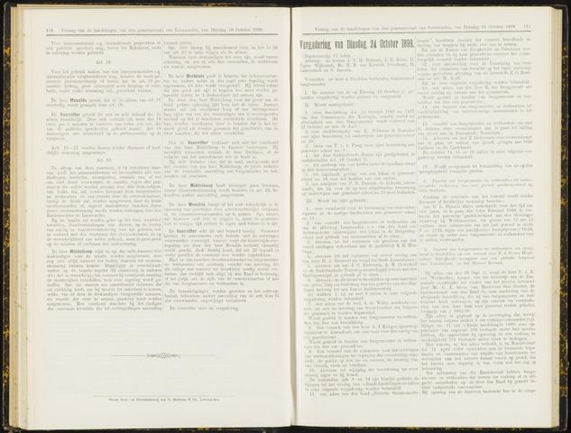 Raadsverslagen van de gemeente Leeuwarden, 1865-2007 (Notulen) 1899-10-24