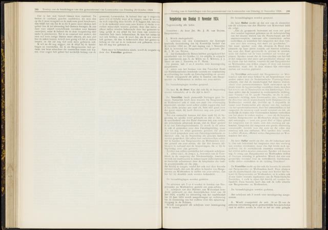 Raadsverslagen van de gemeente Leeuwarden, 1865-2007 (Notulen) 1924-11-11
