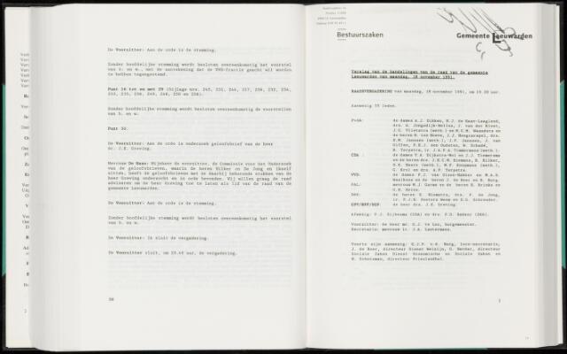 Raadsverslagen van de gemeente Leeuwarden, 1865-2007 (Notulen) 1991-11-18