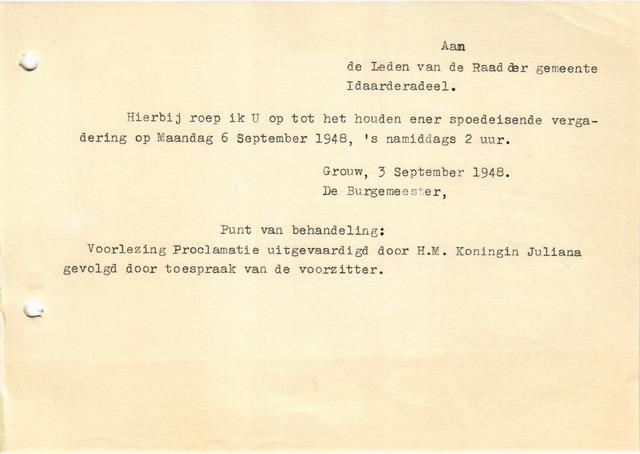 raadsverslagen Idaarderadeel 1935-1983 1948-09-06