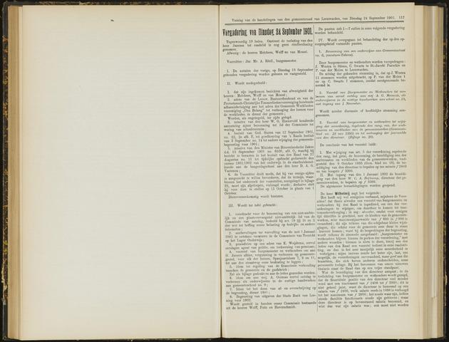 Raadsverslagen van de gemeente Leeuwarden, 1865-2007 (Notulen) 1901-09-24