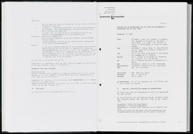 Raadsverslagen van de gemeente Leeuwarden, 1865-2007 (Notulen) 2006-06-26