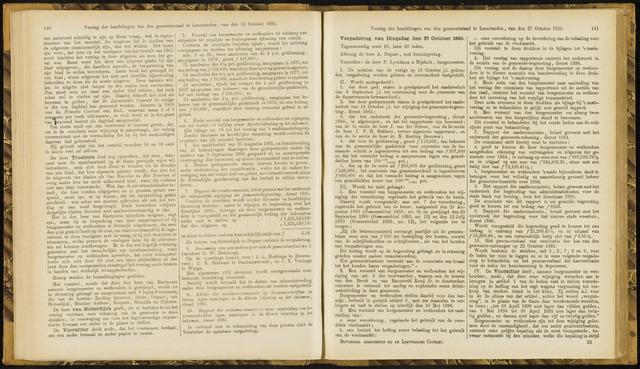 Raadsverslagen van de gemeente Leeuwarden, 1865-2007 (Notulen) 1885-10-27
