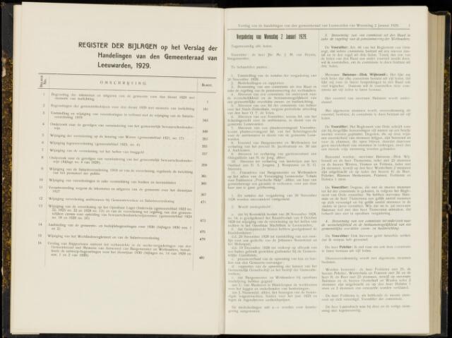 Raadsverslagen van de gemeente Leeuwarden, 1865-2007 (Notulen) 1929