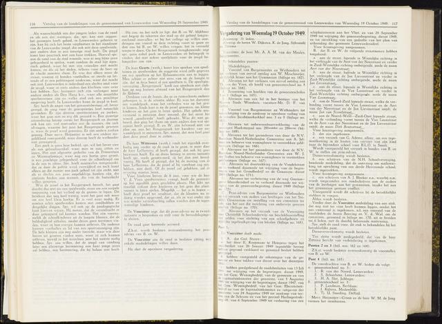 Raadsverslagen van de gemeente Leeuwarden, 1865-2007 (Notulen) 1949-10-19