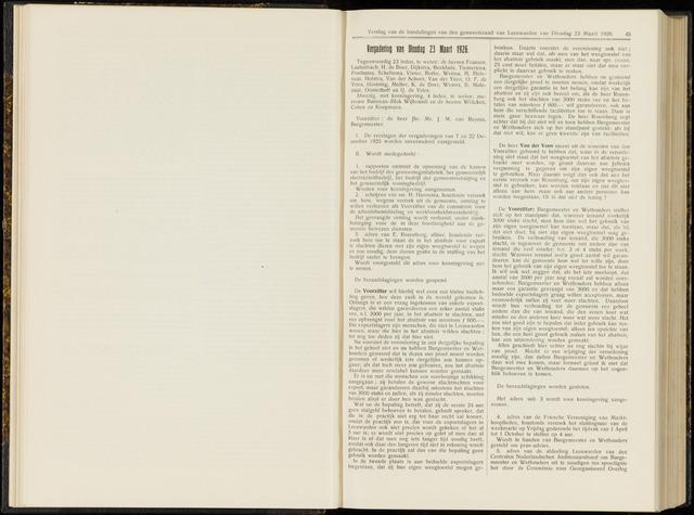Raadsverslagen van de gemeente Leeuwarden, 1865-2007 (Notulen) 1926-03-23