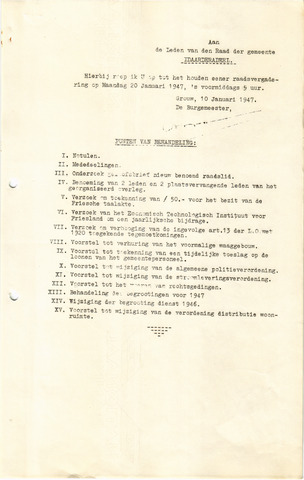 raadsverslagen Idaarderadeel 1935-1983 1947