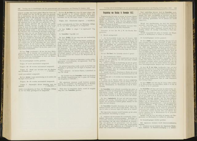 Raadsverslagen van de gemeente Leeuwarden, 1865-2007 (Notulen) 1922-11-14